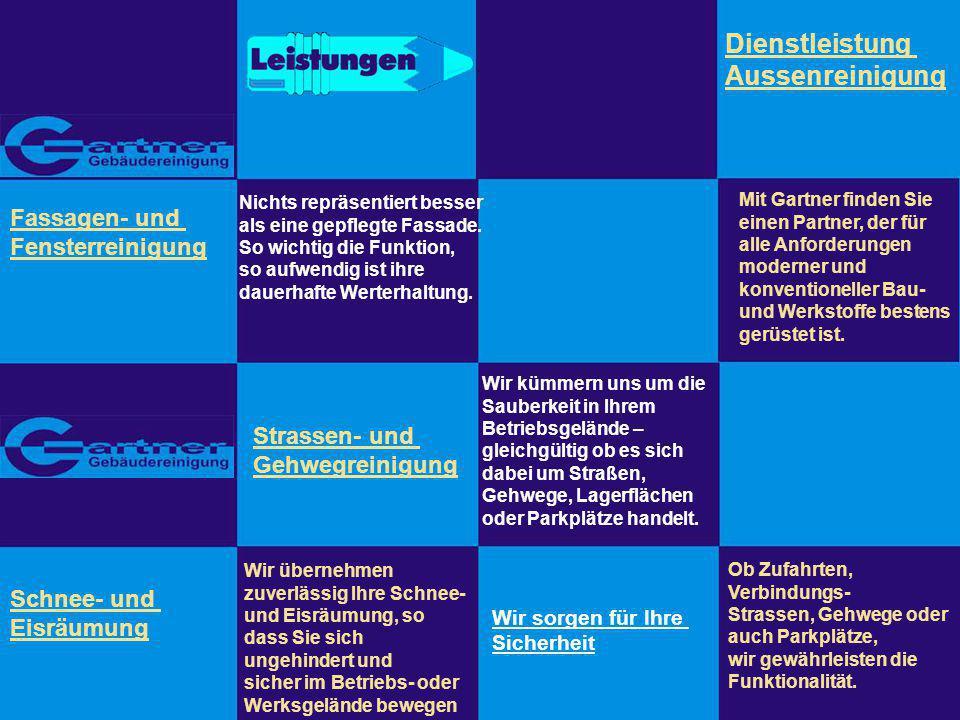 Gartner Gebäudereinigung Inhaber: Christa Gartner Schreibergasse 11 91462 Dachsbach Tel: 09163 - 7940 Fax 09163 - 996575 Internet: www.der-gebaeudereiniger.de email: info@der-gebaeudereiniger.de