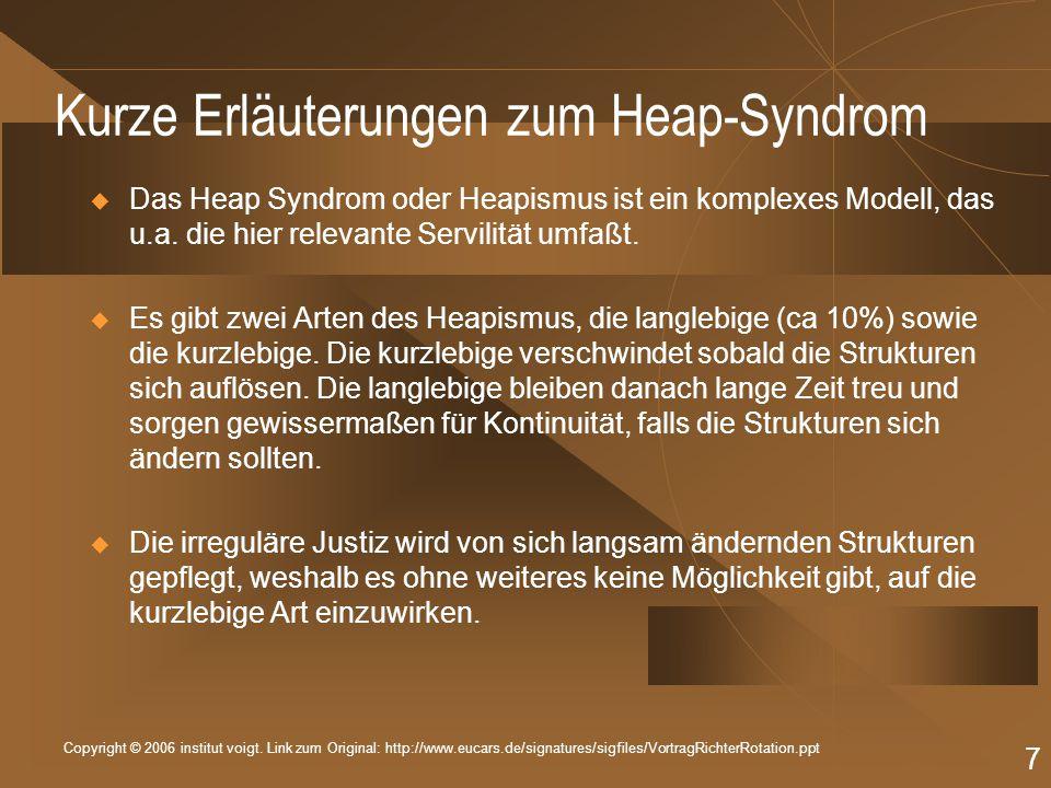 Copyright © 2006 institut voigt. Link zum Original: http://www.eucars.de/signatures/sigfiles/VortragRichterRotation.ppt 7 Kurze Erläuterungen zum Heap