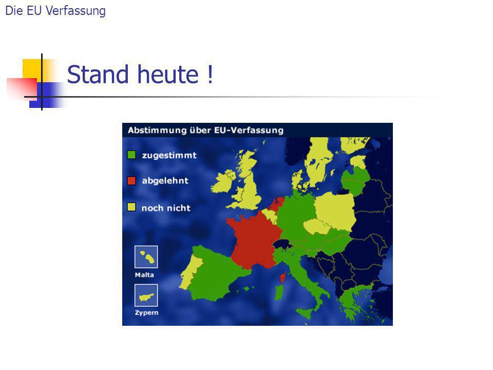 Stand heute ! Die EU Verfassung