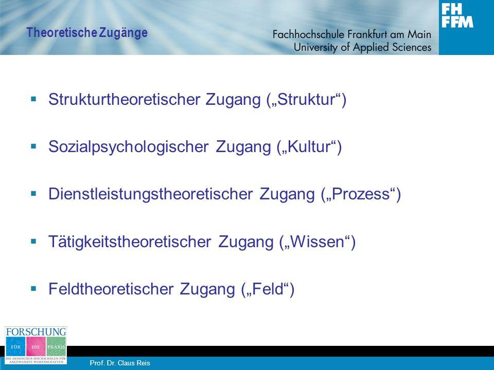 Prof.Dr. Claus Reis Struktur Organisationale Netzwerke sind soziale Systeme mit eigener Logik.