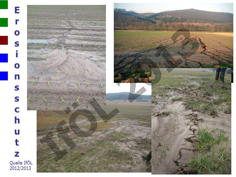 Grundlegendes Ziele des Zwischenfruchtanbaus: 1.Boden- und Gewässerschutz Verringerung der Nitratauswaschung Vermeidung von Bodenerosion und Oberflächenabfluss (Nährstoffeinträge in Oberflächengewässer) Verbesserung der Bodenstruktur (Bodenfruchtbarkeit) 2.Gründüngung (Bodenbedeckung, Humusanreicherung) 3.Futternutzung und Biogasproduktion IfÖL 2013