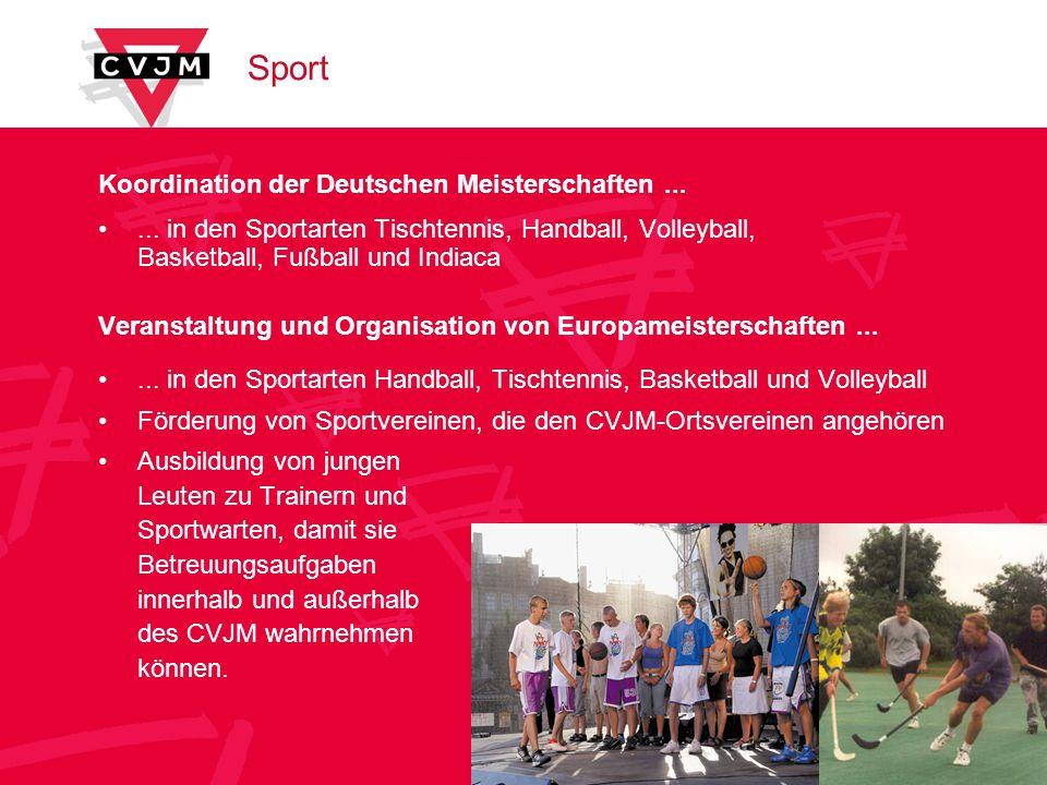 Sport Koordination der Deutschen Meisterschaften......