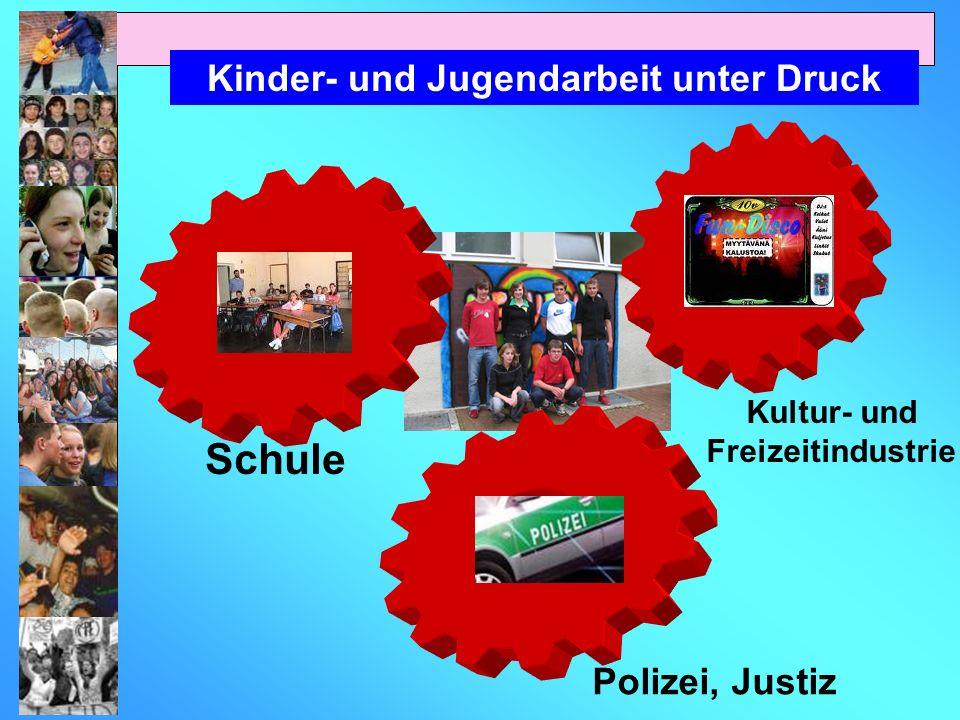 Kinder- und Jugendarbeit unter Druck Schule Polizei, Justiz Kultur- und Freizeitindustrie