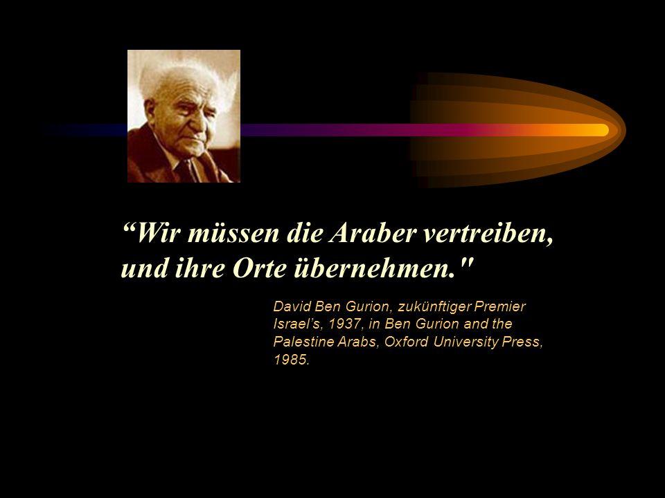 Es gibt eine klaffende Lücke zwischen uns, den Juden, und unseren Feinden, den Arabern.