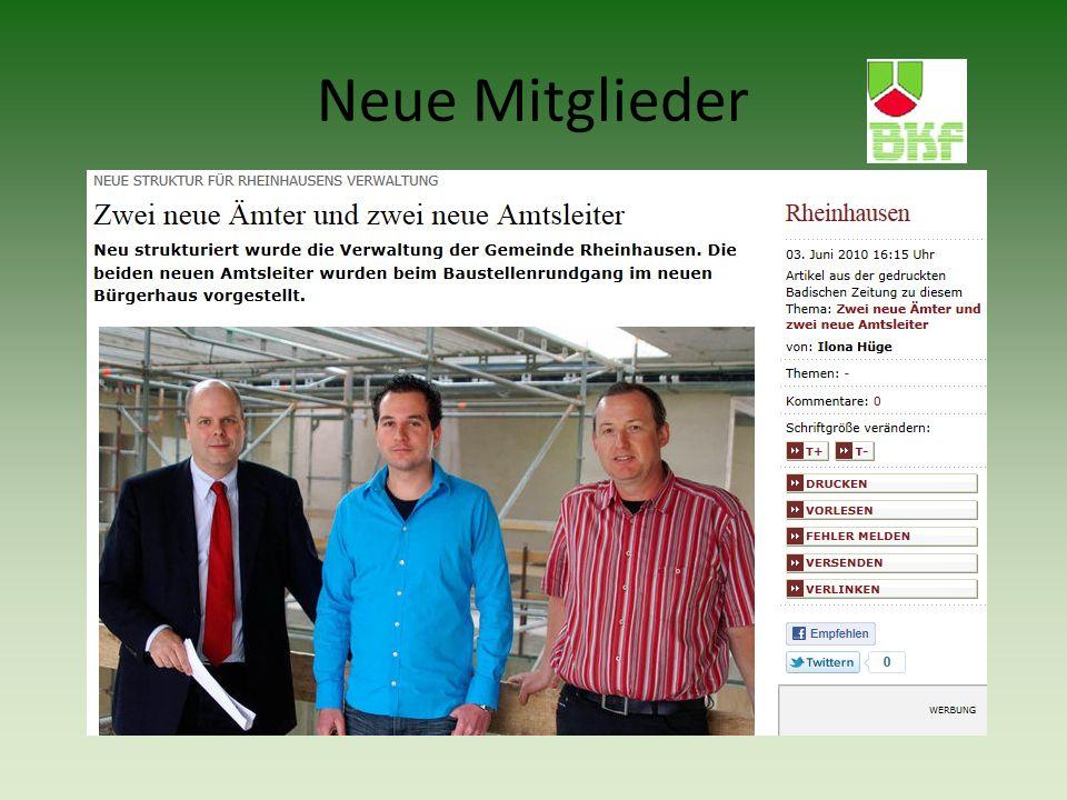 Ralph Weber, Gemeinde Rheinhausen Birgit Weis, Gemeinde Simonswald Ramona Mahler, Stadt Emmendingen Walter Jauch, Stadt Emmendingen