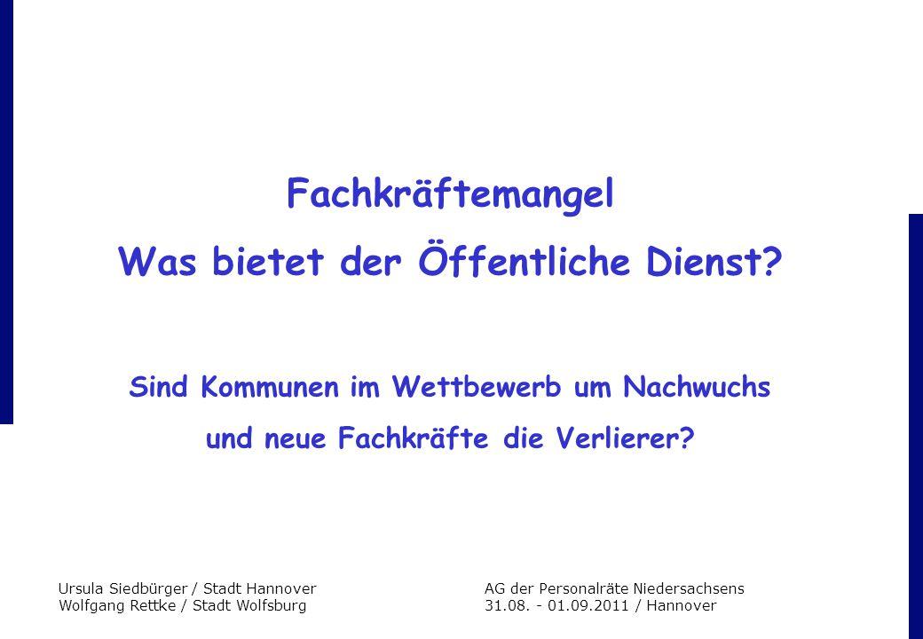Ursula Siedbürger / Stadt HannoverAG der Personalräte Niedersachsens Wolfgang Rettke / Stadt Wolfsburg 31.08. - 01.09.2011 / Hannover Fachkräftemangel