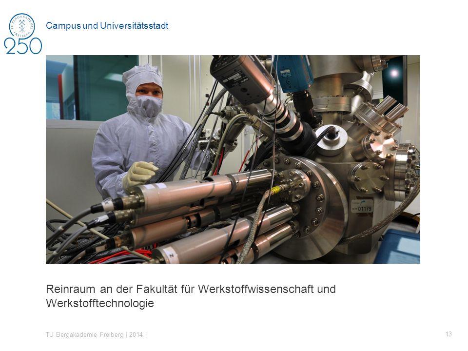 Reinraum an der Fakultät für Werkstoffwissenschaft und Werkstofftechnologie TU Bergakademie Freiberg | 2014 | 13 Campus und Universitätsstadt