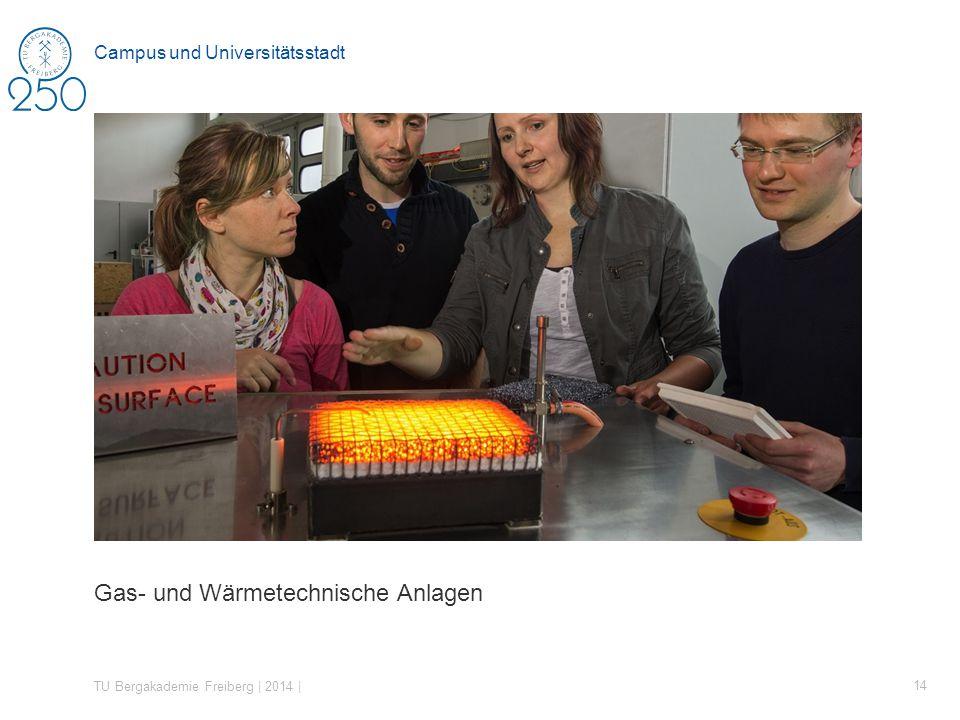 Gas- und Wärmetechnische Anlagen TU Bergakademie Freiberg | 2014 | 14 Campus und Universitätsstadt