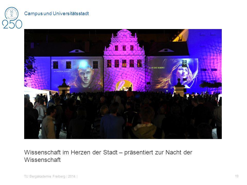 Wissenschaft im Herzen der Stadt – präsentiert zur Nacht der Wissenschaft TU Bergakademie Freiberg | 2014 | 19 Campus und Universitätsstadt