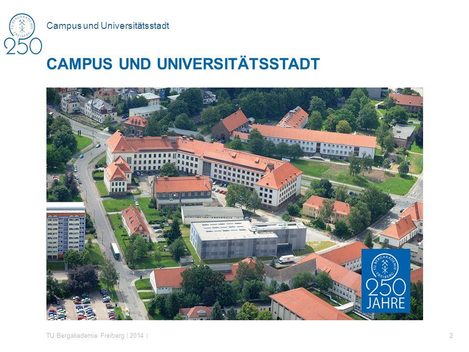Campus und Universitätsstadt CAMPUS UND UNIVERSITÄTSSTADT TU Bergakademie Freiberg | 2014 | 2