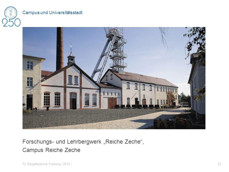 Forschungs- und Lehrbergwerk Reiche Zeche, Campus Reiche Zeche TU Bergakademie Freiberg | 2014 | 22 Campus und Universitätsstadt