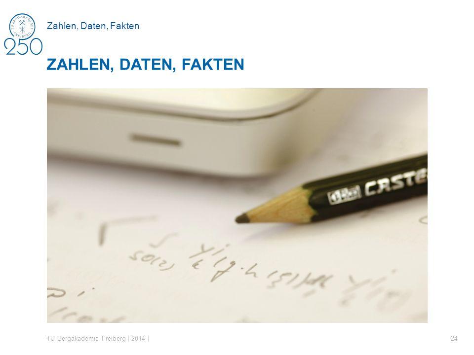 Zahlen, Daten, Fakten TU Bergakademie Freiberg | 2014 | 24 ZAHLEN, DATEN, FAKTEN