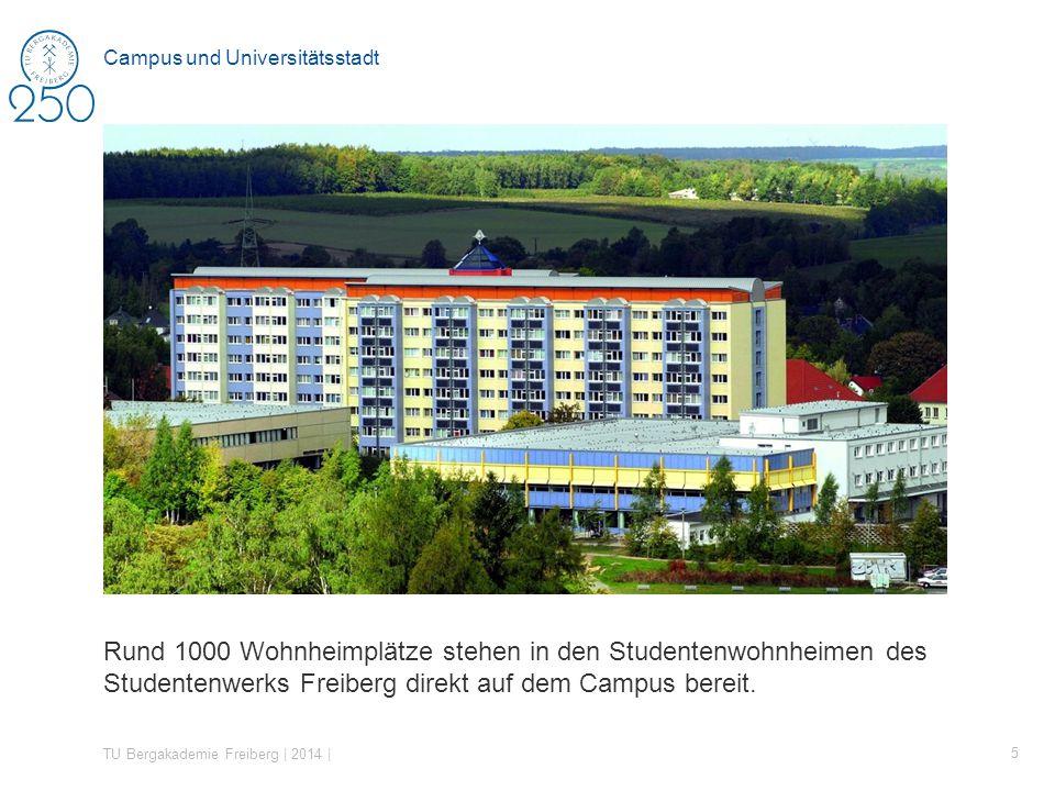 Rund 1000 Wohnheimplätze stehen in den Studentenwohnheimen des Studentenwerks Freiberg direkt auf dem Campus bereit.