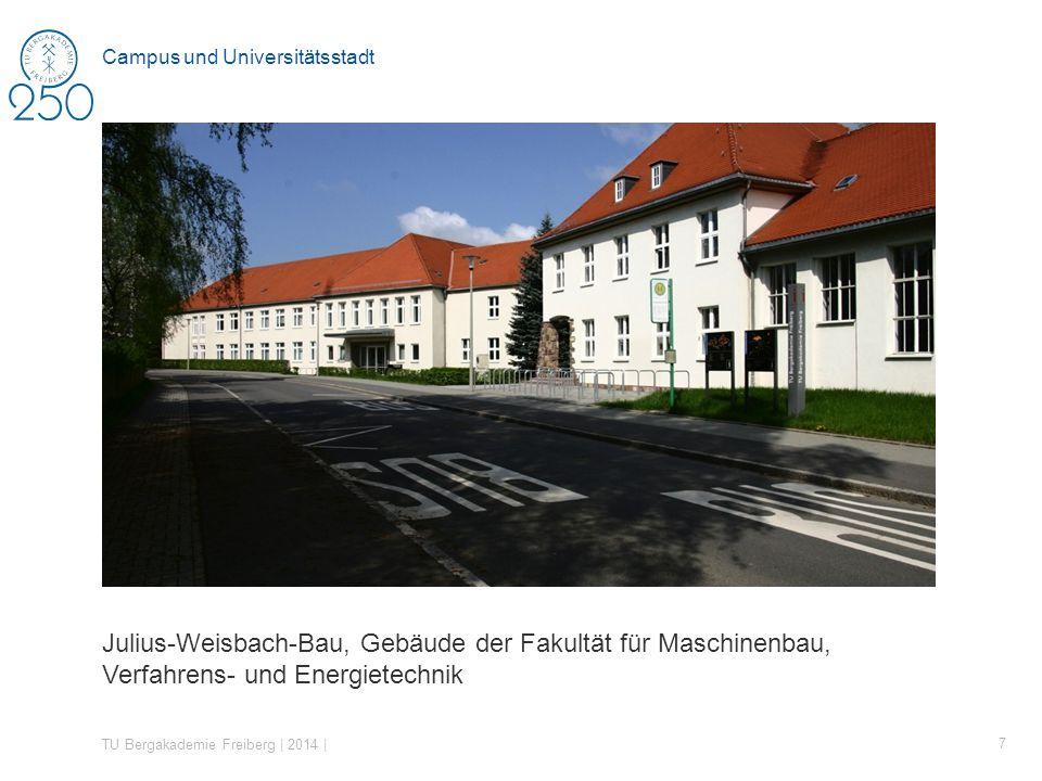Julius-Weisbach-Bau, Gebäude der Fakultät für Maschinenbau, Verfahrens- und Energietechnik TU Bergakademie Freiberg | 2014 | 7 Campus und Universitätsstadt