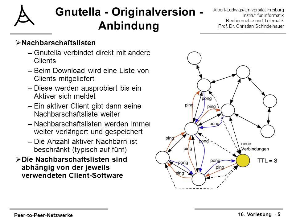 Peer-to-Peer-Netzwerke 16.