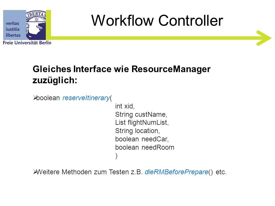 ToDos Workflow Controller Interface –Frontend für Clients, NICHT modifizieren .