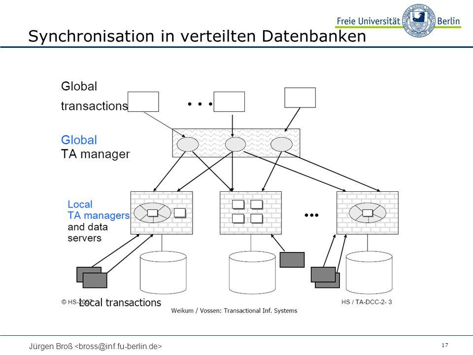 17 Jürgen Broß Synchronisation in verteilten Datenbanken