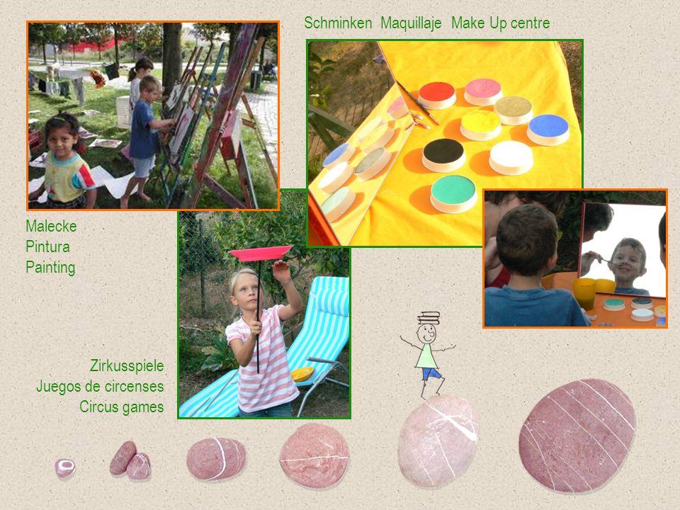 Malecke Pintura Painting Schminken Maquillaje Make Up centre Zirkusspiele Juegos de circenses Circus games