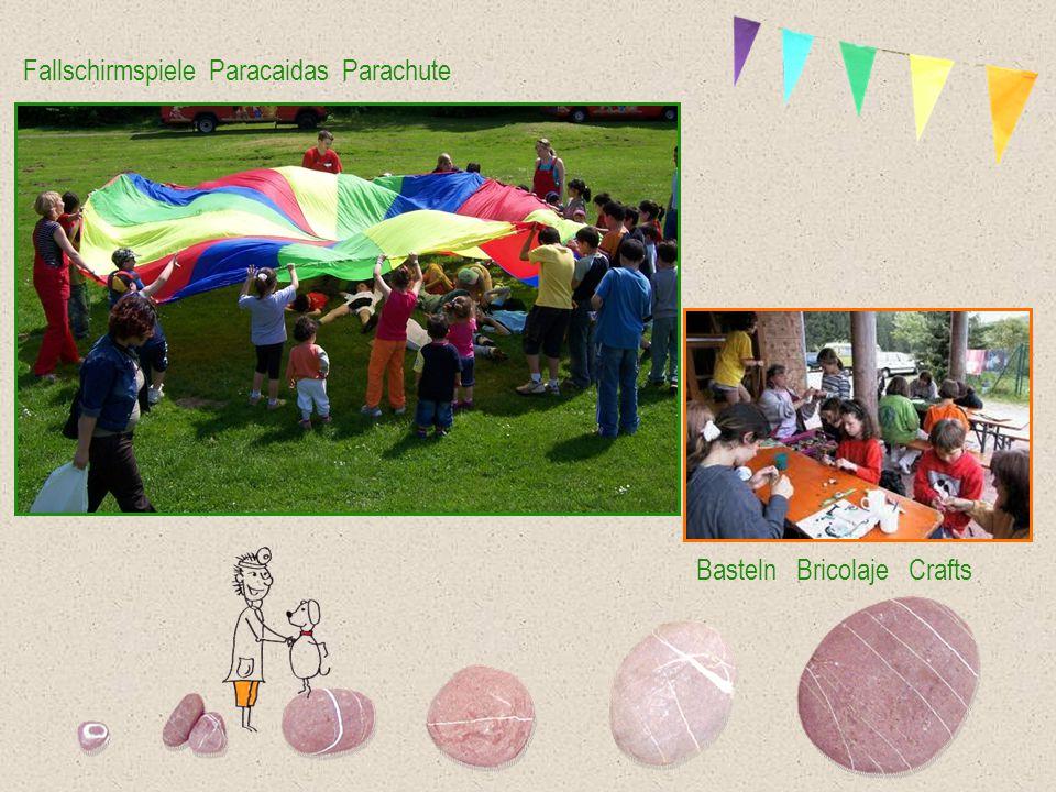 Fallschirmspiele Paracaidas Parachute Basteln Bricolaje Crafts
