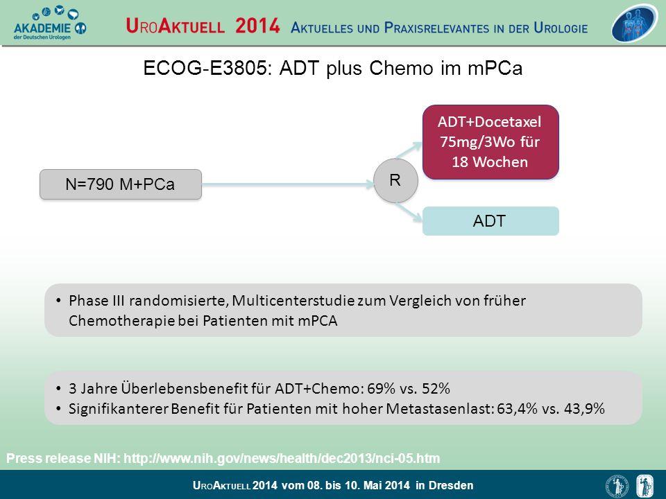 U RO A KTUELL 2014 vom 08. bis 10. Mai 2014 in Dresden Phase III randomisierte, Multicenterstudie zum Vergleich von früher Chemotherapie bei Patienten