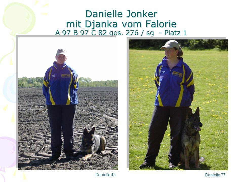 Danielle Jonker mit Djanka vom Falorie A 97 B 97 C 82 ges. 276 / sg - Platz 1