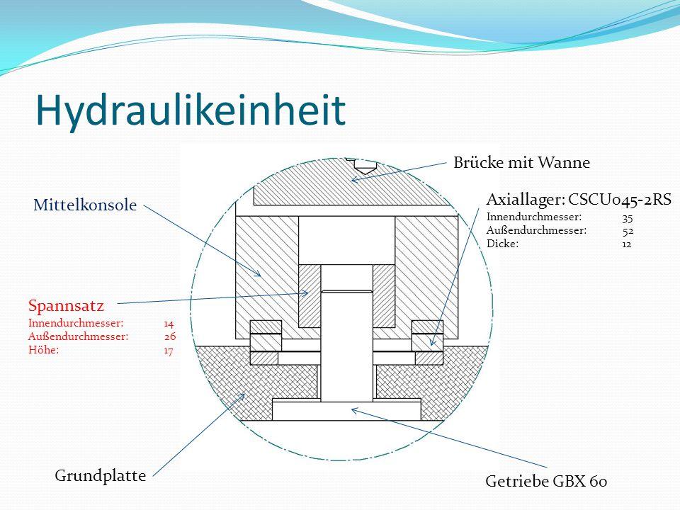 Grundplatte Getriebe GBX 60 Brücke mit Wanne Axiallager: CSCU045-2RS Innendurchmesser:35 Außendurchmesser: 52 Dicke: 12 Mittelkonsole Spannsatz Innend