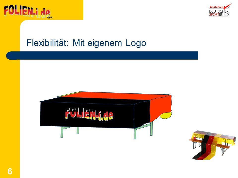 6 Flexibilität: Mit eigenem Logo