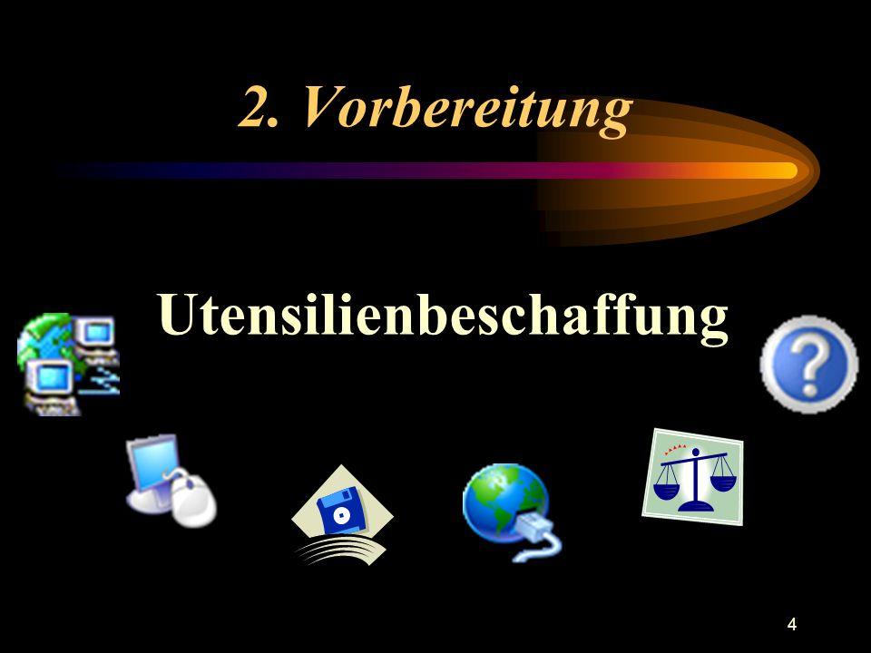 4 2. Vorbereitung Utensilienbeschaffung
