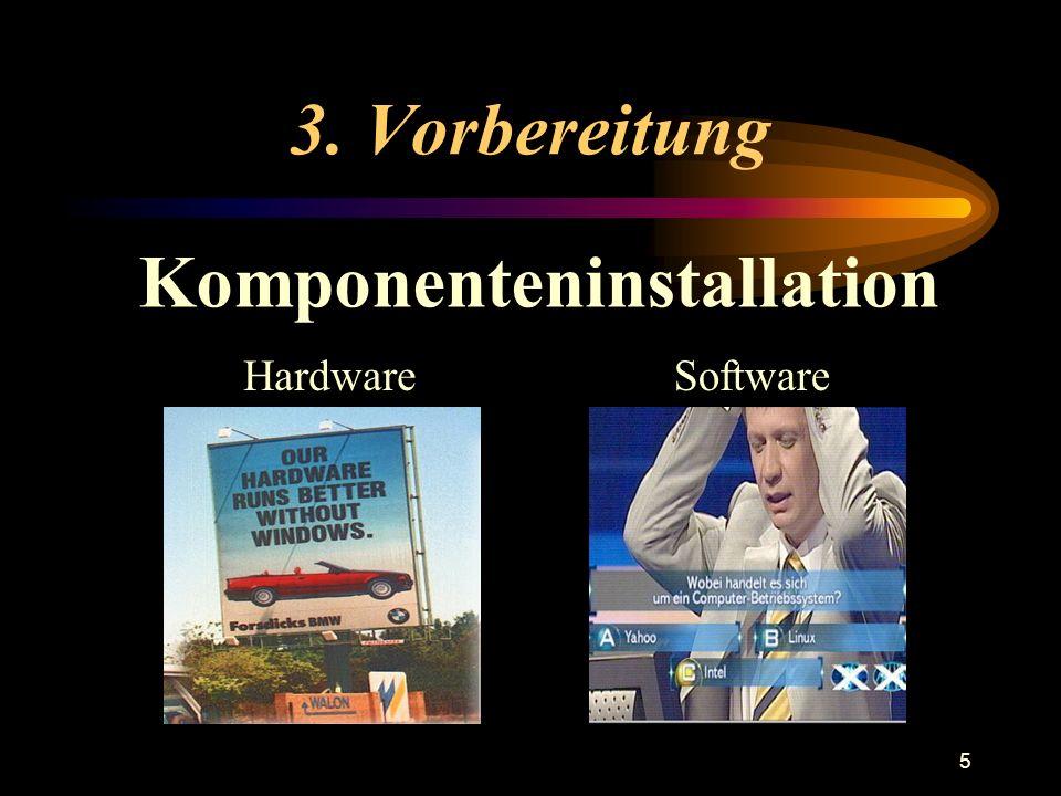 5 3. Vorbereitung Komponenteninstallation HardwareSoftware