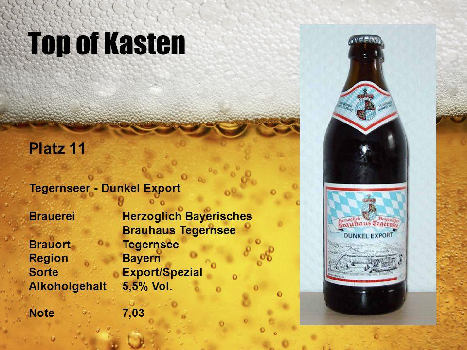 Top of Kasten Platz 11 Tegernseer - Dunkel Export BrauereiHerzoglich Bayerisches Brauhaus Tegernsee BrauortTegernsee RegionBayern SorteExport/Spezial