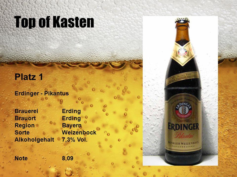 Top of Kasten Platz 1 Erdinger - Pikantus Brauerei Erding BrauortErding Region Bayern Sorte Weizenbock Alkoholgehalt 7,3% Vol. Note8,09