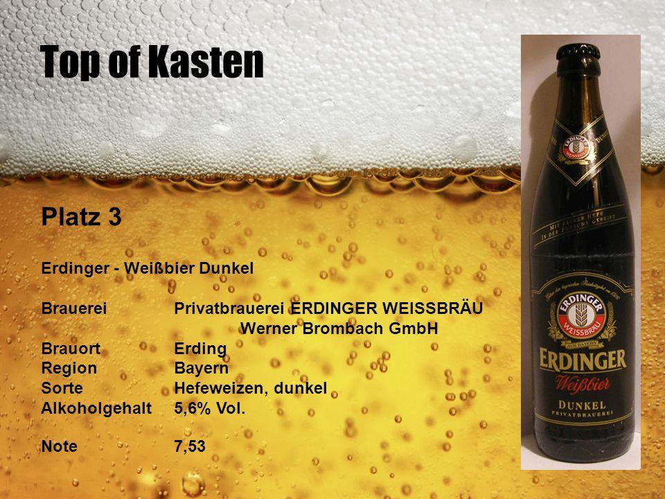 Top of Kasten Platz 3 Erdinger - Weißbier Dunkel BrauereiPrivatbrauerei ERDINGER WEISSBRÄU Werner Brombach GmbH BrauortErding RegionBayern SorteHefewe