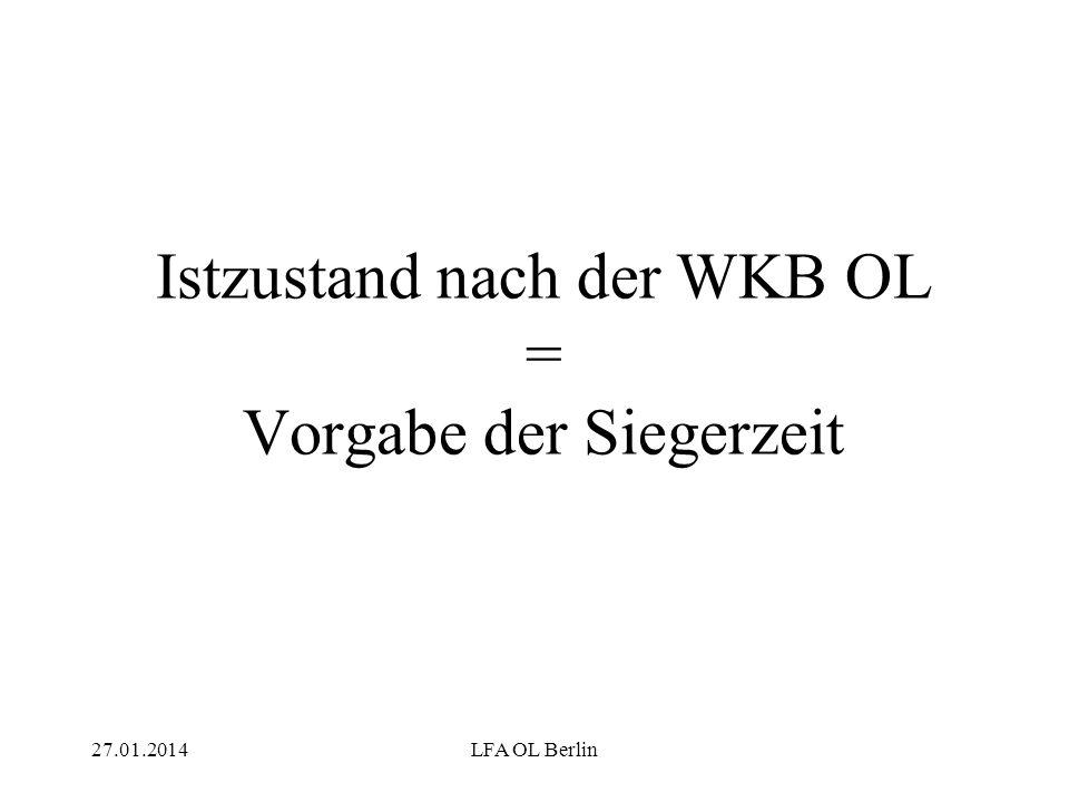 27.01.2014LFA OL Berlin Istzustand nach der WKB OL = Vorgabe der Siegerzeit