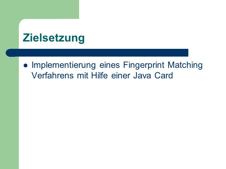 Überblick Allgemeines über Smart Cards Authentifikation und Biometrie Matching Verfahren Implementierung Vorführung