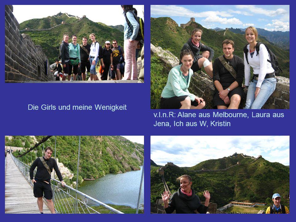 Die Girls und meine Wenigkeit v.l.n.R: Alane aus Melbourne, Laura aus Jena, Ich aus W, Kristin