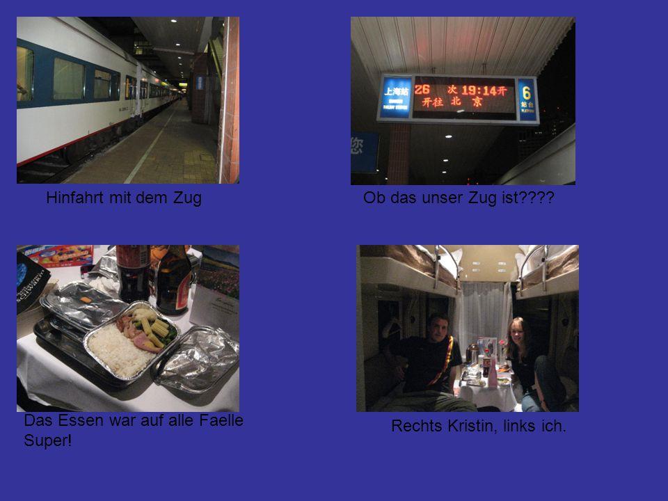 Hinfahrt mit dem ZugOb das unser Zug ist???.Das Essen war auf alle Faelle Super.