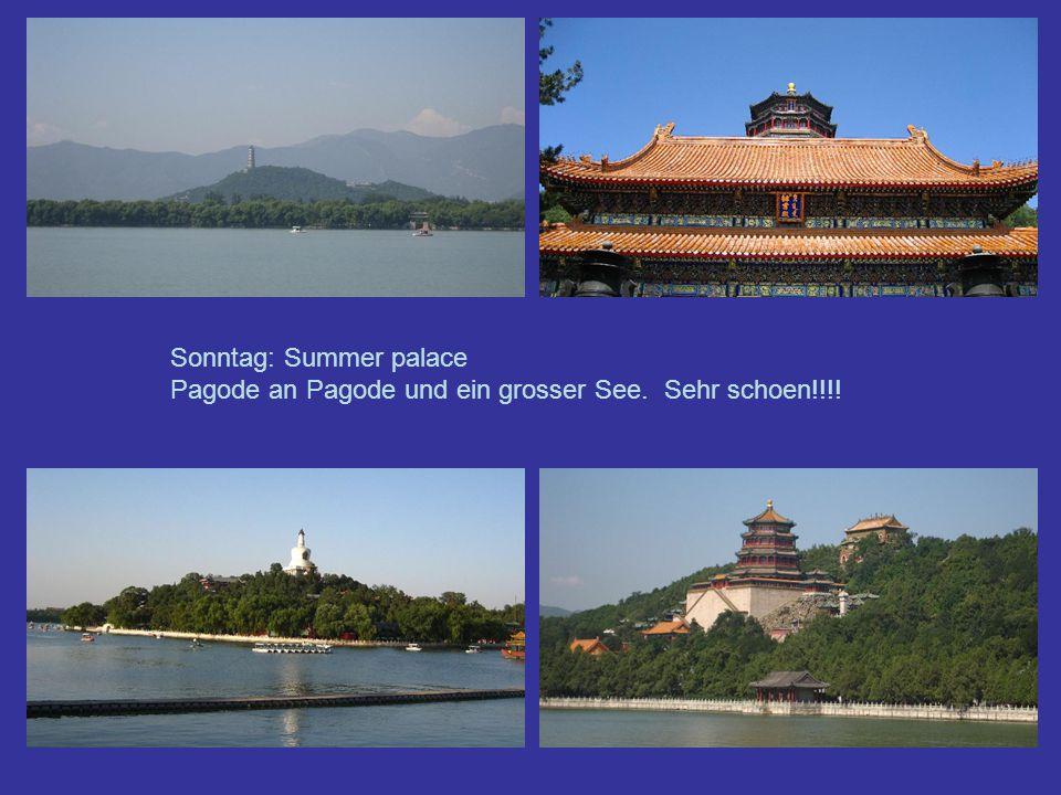Sonntag: Summer palace Pagode an Pagode und ein grosser See. Sehr schoen!!!!