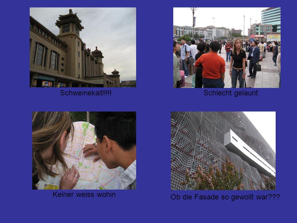 Selbst in Beijing legt man Wert auf unsere Qualitaet