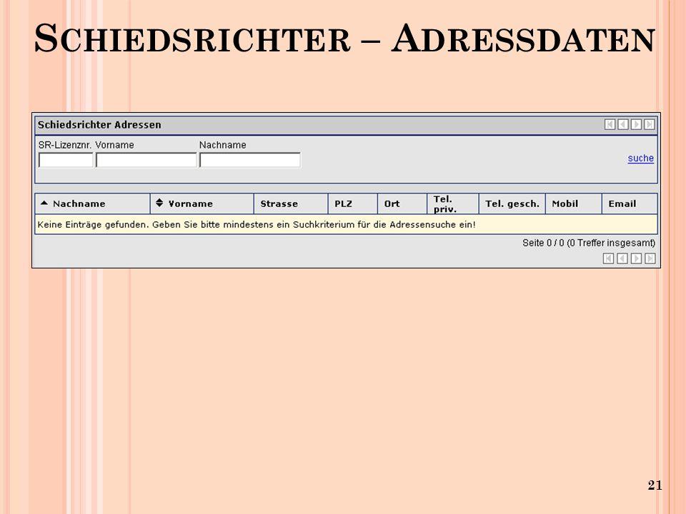 21 S CHIEDSRICHTER – A DRESSDATEN
