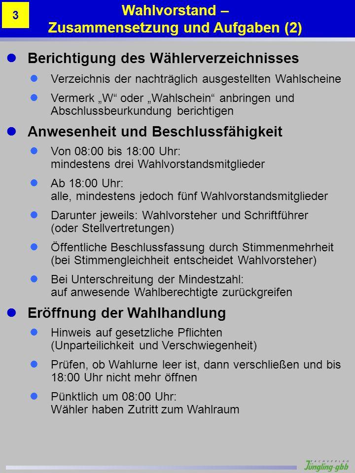 Musterstadt 1 – Altes Schulhaus 3 Gabi Schuster 6 90 Stimmzettelbeispiele Beispiel 6 – Korrektur der Stimmabgabe Anhang A.12