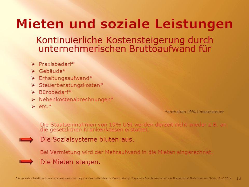 Das gemeinschaftliche Konsumsteuersystem - Vortrag von Verena Nedden zur Veranstaltung Wege zum Grundeinkommen der Piratenpartei Rhein-Hessen - Mainz, 18.05.2014 18