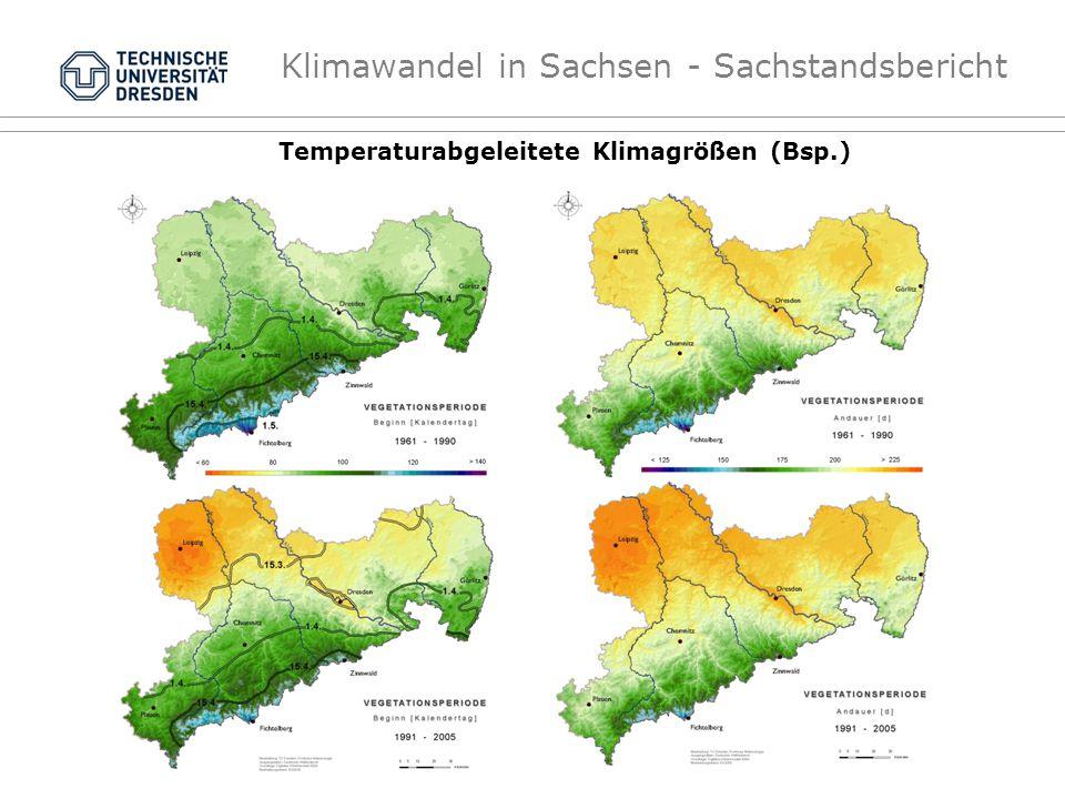 Klimawandel in Sachsen - Sachstandsbericht Temperaturabgeleitete Klimagrößen (Bsp.)
