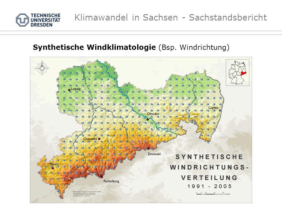 Klimawandel in Sachsen - Sachstandsbericht Synthetische Windklimatologie (Bsp. Windrichtung)