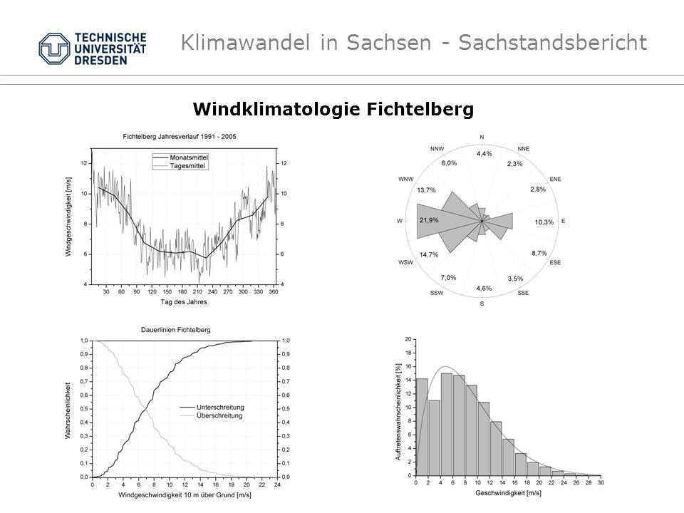 Klimawandel in Sachsen - Sachstandsbericht Windklimatologie Fichtelberg