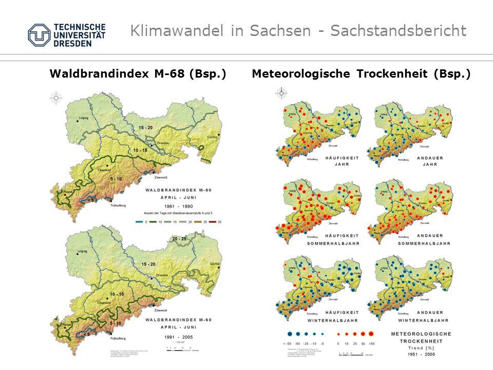 Klimawandel in Sachsen - Sachstandsbericht Waldbrandindex M-68 (Bsp.)Meteorologische Trockenheit (Bsp.)