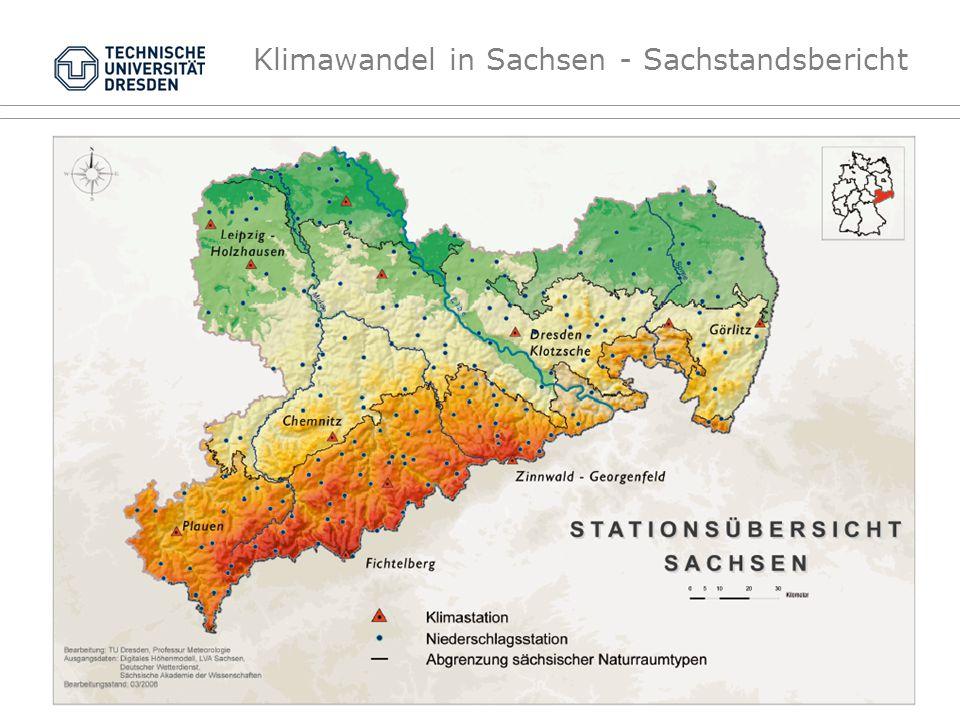 Klimawandel in Sachsen - Sachstandsbericht Anomalien der klimatische Wasserbilanz Kumulative Abweichungen von Monatssummen der Wasserbilanz [mm] bezogen auf den mittleren Jahresgang (auf Monatsbasis) der Referenzperiode 1961-90 TieflandMittelgebirge