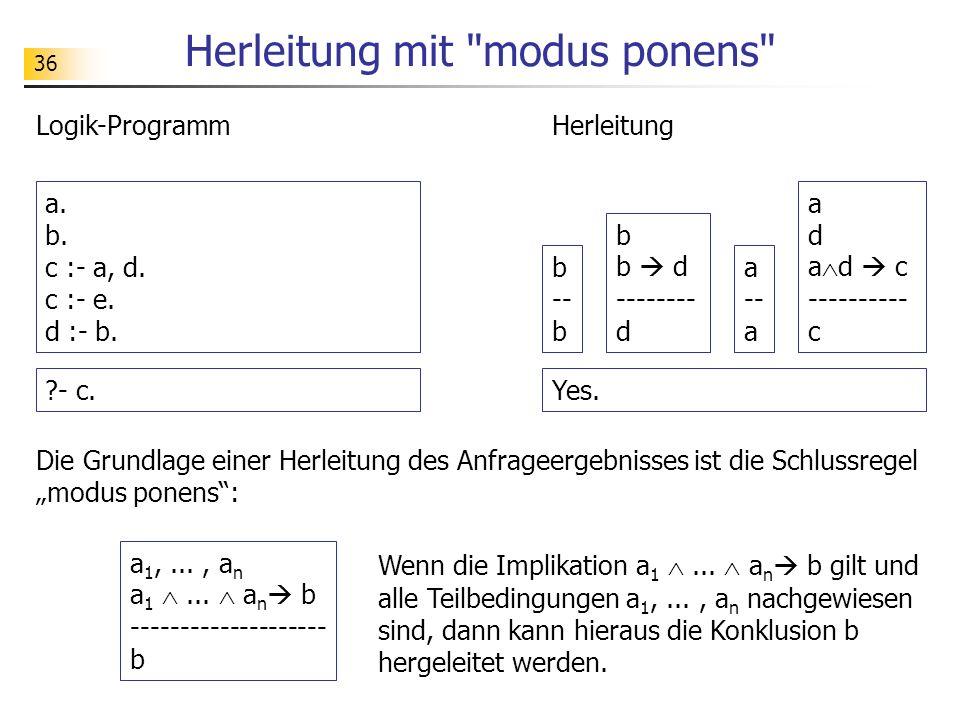 36 Logik-Programm Herleitung mit