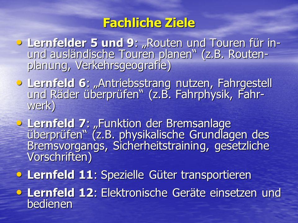 Lernfeld 1: Den eigenen Betrieb repräsentieren (z.B. Informationsbeschaffung, Kommunikation und Gesprächsführung, Präsentationsformen) Lernfeld 1: Den