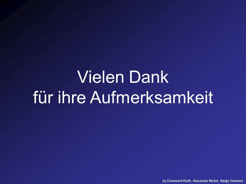 Vielen Dank für ihre Aufmerksamkeit by Domenick Kluth, Alexander Nickel, Nadja Siemens