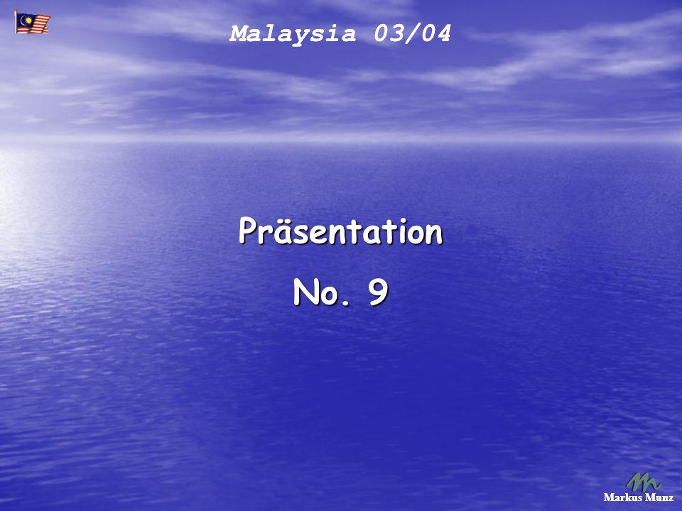 Malaysia 03/04 Markus Munz Der 2. Trip nach KL, Kuala Lumpur.